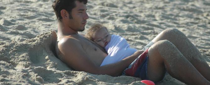 papà e acquaticità neonatale